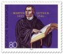 Stamp: 500. Geburtstag von Martin Luther
