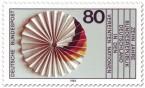 Stamp: Papierrosette mit Schwarz rot gold (Deutschland in der Uno)