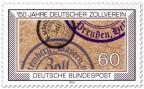 Stamp: Zollstempel - 150 Jahre Deutscher Zollverein