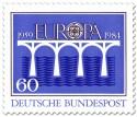 Stamp: Brücke Europamarke (Blau)