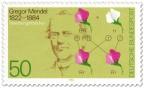 Stamp: Gregor Mendel (Biologe), Vererbungslehre