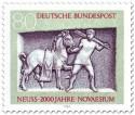 Stamp: Pferd und Knecht (Grabstele Neuss)