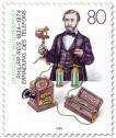 Stamp: Philipp Reis (Erfinder) mit Telefon