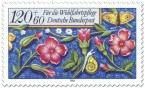 Stamp: Blumen Briefmarke