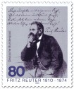 Stamp: Fritz Reuter (Dichter)