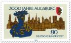 Stamp: Kaiser Augustus Stadt Augsburg