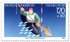 Stamp: Kanu - Kajak Ruderer (für den Sport)