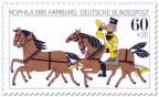 Stamp: Posthorn-Reiter und Pferde
