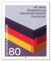 Stamp: Eingliederung heimatvertriebener Deutscher (Schwarz Rot Gold)