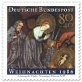 Stamp: Anbetung Kind (Weihnachtsmarke 1986)