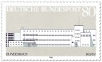 Stamp: Bundeshaus in Bonn