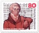 Stamp: Carl Maria von Weber (Komponist)