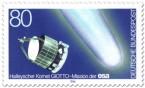 Stamp: Halleyscher Komet und Raumsonde Giotto