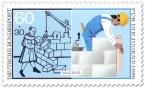 Stamp: Maurer - Haus bauen