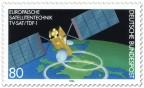 Stamp: Satellit über der Erde (TV-Sat/TDF-1)