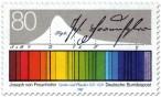 Stamp: Lichtspektrum - Joseph von Fraunhofer (Optiker)