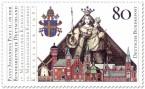Stamp: Madonna, Stadt Kevelär und Papstwappen