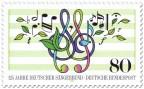 Stamp: Noten, Blätter (Deutscher Sängerbund)