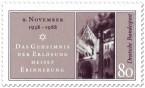 Stamp: 50. Jahrestag der Reichskristallnacht (9. November)
