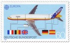 Stamp: Flugzeug Airbus A320 - Bauteile