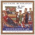 Stamp: Geburt Christi aus dem Evangeliar von Heinrich dem Löwen (Weihnachtsmarke 1988)