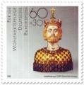 Stamp: Vergoldete Büste (Karl der Große, nach 1349)