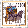 Stamp: Post-Kutsche (Postomnibus in Bayern)