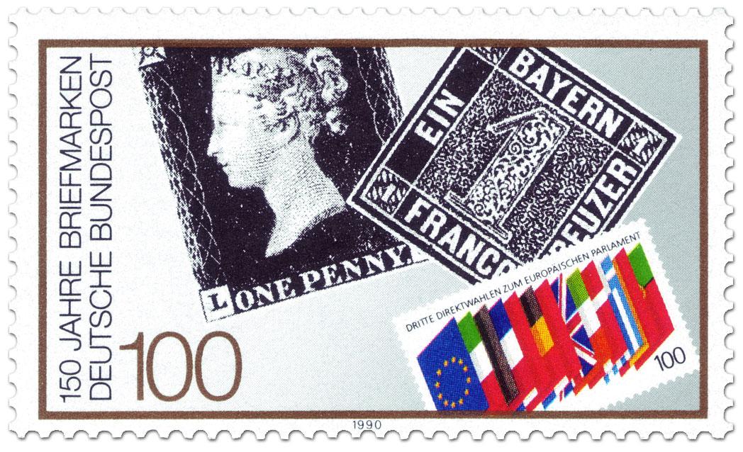 150 Jahre Briefmarken German Stamp 1990