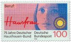 Stamp: Beruf Hausfrau (75 Jahre Deutscher Hausfrauen-Bund)