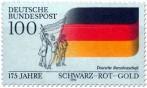 Stamp: Deutsche Fahne 1990