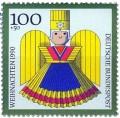 Stamp: Goldener Weihnachtsengel