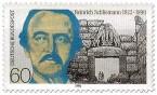 Stamp: Heinrich Schliemann
