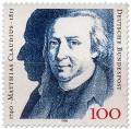 Stamp: Matthias Claudius (Dichter)