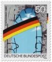 Stamp: Mauerfall 1. Jahrestag 1990
