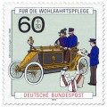Stamp: Motorpostwagen Oldtimer