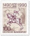 Stamp: Der kleine Postreiter (von Albrecht Dürer)
