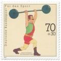 Stamp: Gewichtheber (WM Donaueschingen)