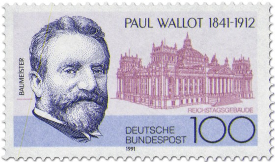 Stamp: Paul Wallot (Baumeister)