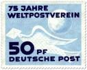 Stamp: Brieftaube, 75 Jahre Weltpostverein