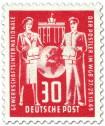 Stamp: Postler, Gewerkschaft-Gründungskonferenz (30, Rot)