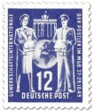 Stamp: Postler Gewerkschaft WGB (12, blau)