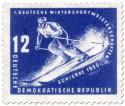 Stamp: Abfahrt-Skiläufer Schierke 1950
