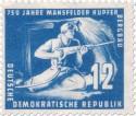 Stamp: Bergarbeiter im Stollen