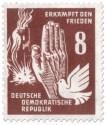 Stamp: Bombenangriff, Hand und Taube
