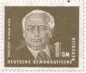 Stamp: Wilhelm Pieck 1 DM