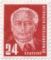 Stamp: Wilhelm Pieck rot (24)