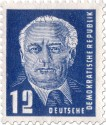Stamp: Wilhelm Pieck Portrait