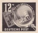 Stamp: Debria 1949 - Ein Kreuzer und Lupe