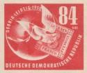 Stamp: Debria 1950 - Globus und Taube