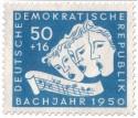 Stamp: Drei Sänger, Noten: B-A-C-H